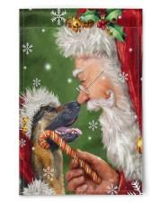 "German Shepherd Smile With Santa 11.5""x17.5"" Garden Flag front"