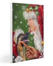 German Shepherd Smile With Santa 20x30 Gallery Wrapped Canvas Prints thumbnail