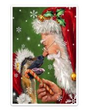 German Shepherd Smile With Santa Sticker - Single (Vertical) thumbnail