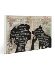 Pig You Are My Happiness Gallery Wrapped Canvas Prints tile