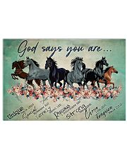 Horse God Says You  17x11 Poster front