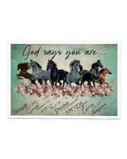 Horse God Says You  Sticker - Single (Horizontal) thumbnail