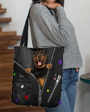 Rottie - Zip - All Tote All-over Tote aos-all-over-tote-lifestyle-front-09