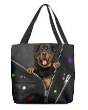 Rottie - Zip - All Tote All-over Tote front