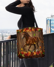 Horse Fall Leave All-over Tote aos-all-over-tote-lifestyle-front-05
