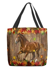 Horse Fall Leave All-over Tote back