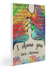 LGBT Kiss I Choose You Gallery Wrapped Canvas Prints tile
