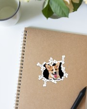 Corgi Crack  Sticker - Single (Vertical) aos-sticker-single-vertical-lifestyle-front-16