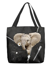 Elephant Black  All-over Tote front