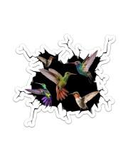 Hummingbird Crack Sticker - Single (Vertical) front