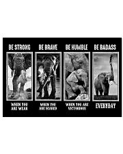 Elephant - Be Strong 17x11 Poster front