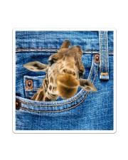 Giraffe Jean All - Over Tote Sticker tile