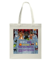 Dachshund Hocus Pocus Tote Bag thumbnail