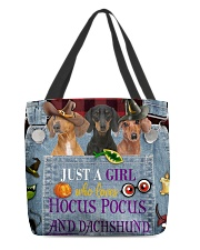 Dachshund Hocus Pocus All-over Tote back