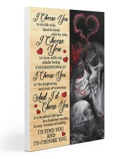 Skull - I Choose You Poster 20x30 Gallery Wrapped Canvas Prints thumbnail