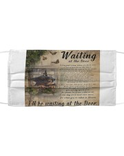 Waiting At The Door Dachshund Mask tile