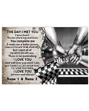 Custom Name Racing The Day I Met You 17x11 Poster front