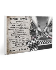 Custom Name Racing The Day I Met You Gallery Wrapped Canvas Prints tile