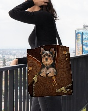 Yorkshire Terrier  All-over Tote aos-all-over-tote-lifestyle-front-05