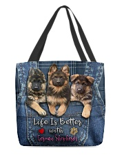 German Shepherd Life Is Better  All-over Tote back