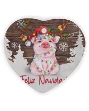 Pig - Merry Christmas Heart ornament - single (wood) thumbnail