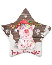 Pig - Merry Christmas Star ornament - single (porcelain) thumbnail