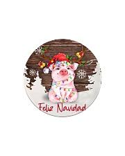 Pig - Merry Christmas Circle Magnet thumbnail