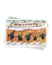 Turtle - Today Is A New Day Sticker - 2 pack (Horizontal) thumbnail