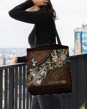Hunting country girl All-over Tote aos-all-over-tote-lifestyle-front-05