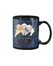Golden Retriever Life Is Better Mug tile