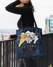 Golden Retriever Life Is Better All-over Tote aos-all-over-tote-lifestyle-front-05