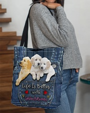 Golden Retriever Life Is Better All-over Tote aos-all-over-tote-lifestyle-front-09