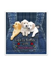 Golden Retriever Life Is Better Sticker tile