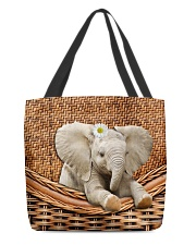 Elephant Handmade All-over Tote front