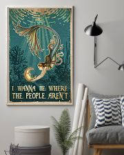 Mermaid - I Wanna Be Where The People Aren't 11x17 Poster lifestyle-poster-1