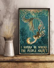 Mermaid - I Wanna Be Where The People Aren't 11x17 Poster lifestyle-poster-3