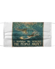 Mermaid - I Wanna Be Where The People Aren't Cloth face mask thumbnail