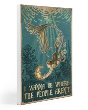 Mermaid - I Wanna Be Where The People Aren't 20x30 Gallery Wrapped Canvas Prints thumbnail