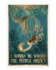 Mermaid - I Wanna Be Where The People Aren't Sticker - Single (Vertical) thumbnail