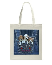 Basset Hounds Life Is Better Tote Bag thumbnail