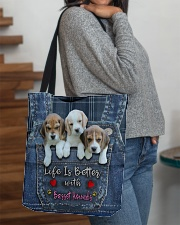 Basset Hounds Life Is Better All-over Tote aos-all-over-tote-lifestyle-front-09