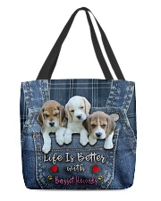 Basset Hounds Life Is Better All-over Tote back