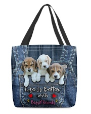 Basset Hounds Life Is Better All-over Tote front