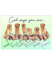 Golden Retriever God Says You Are 17x11 Poster front