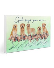 Golden Retriever God Says You Are 30x20 Gallery Wrapped Canvas Prints thumbnail