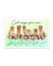 Golden Retriever God Says You Are Sticker tile
