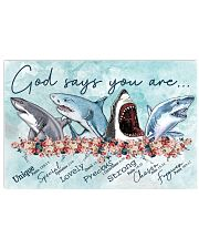 Shark - God Says You Are Poster 17x11 Poster front