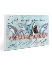 Shark - God Says You Are Poster Gallery Wrapped Canvas Prints tile