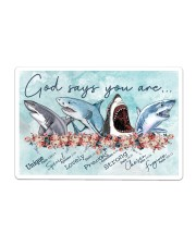 Shark - God Says You Are Poster Sticker tile