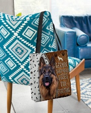 German Shepherd Kisses Fix Everything Bag All-over Tote aos-all-over-tote-lifestyle-front-01